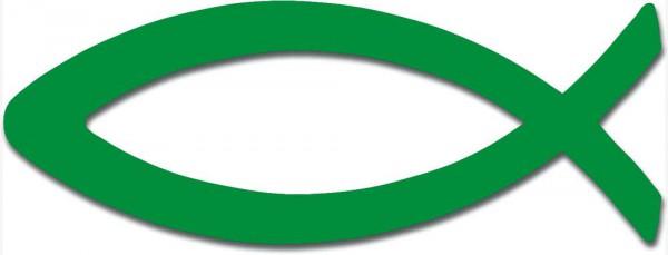 Aufkleber ''Fisch'' - grün