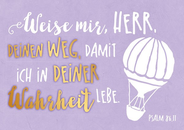 "Postkarte ""Weise mir Herr"""