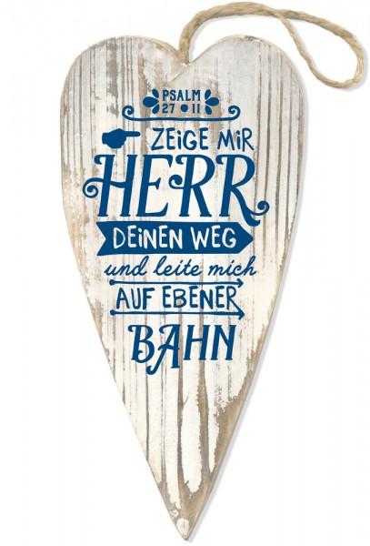 """Holzherz """"Zeig mir Herr deinen Weg ..."""""""