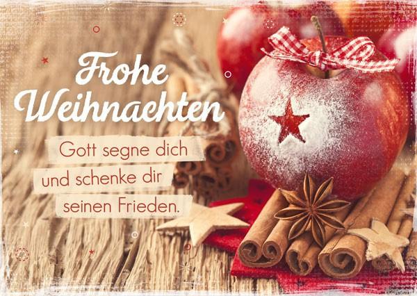 Postkarte - Frohe Weihnachten - Gott segne dich