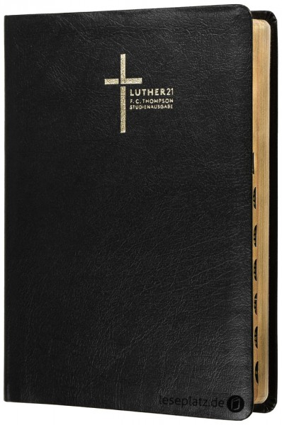 Luther21 - F.C.Thompson Studienausgabe - Großdruck - Lederfaserstoff schwarz