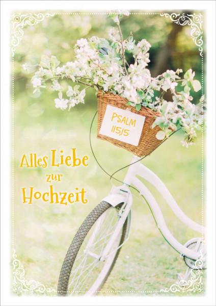 """Doppelkarte """"Alles Liebe zu Hochzeit"""""""
