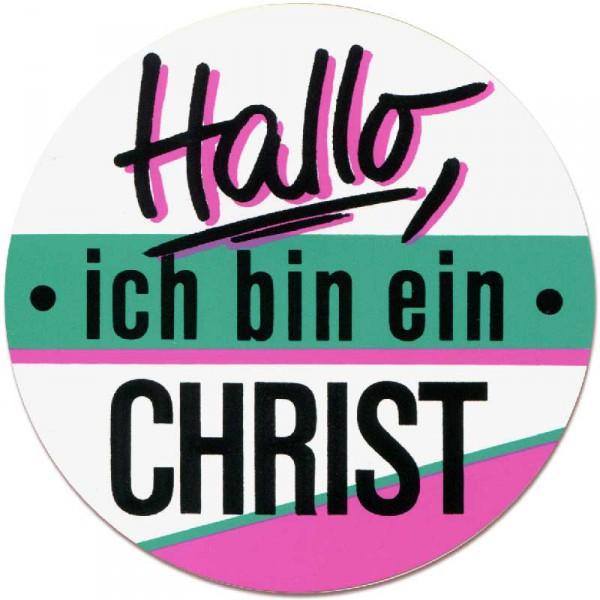 Aufkleber ''Hallo, ich bin ein Christ''