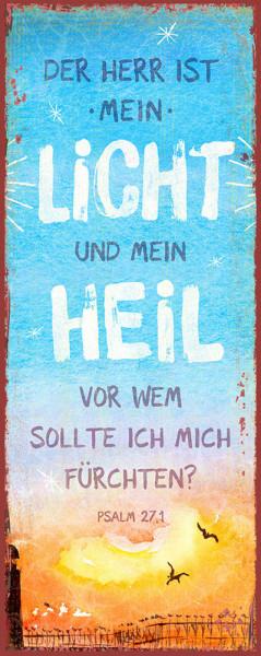 """Metallschild """"Mein Heil"""""""