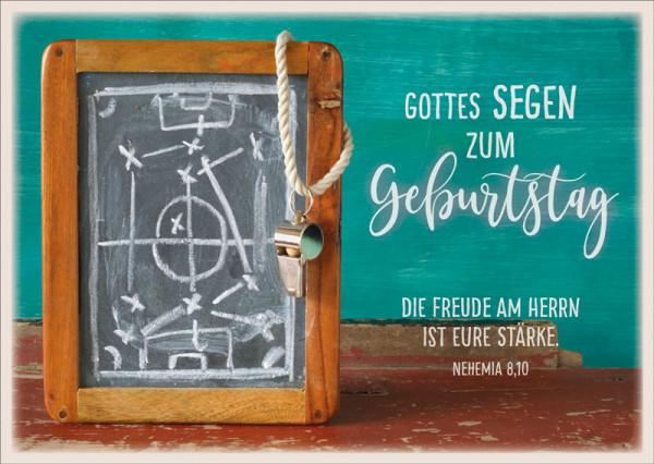"Postkarte ""Fußballstrategie"""