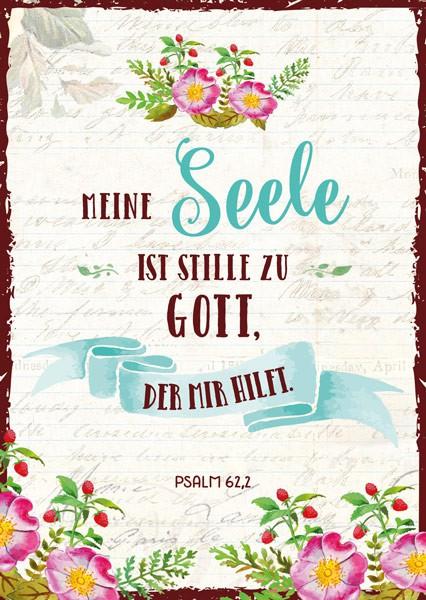 "Postkarte ""Meine Seele"""