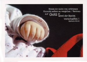 """Postkarte """"Nimm dir nicht vor, ..."""""""