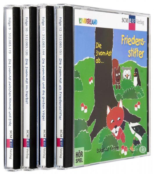 Die 3 vom Ast ... - CD-Folge 9-12 im Paket
