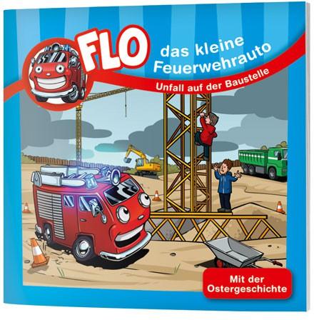 """Flo, das kleine Feuerwehrauto - Mini-Buch """"Unfall auf der Baustelle"""""""