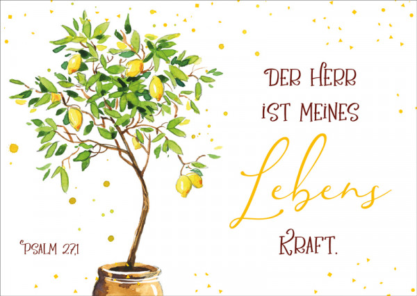 """Postkarte """"Zitronenbäumchen"""""""