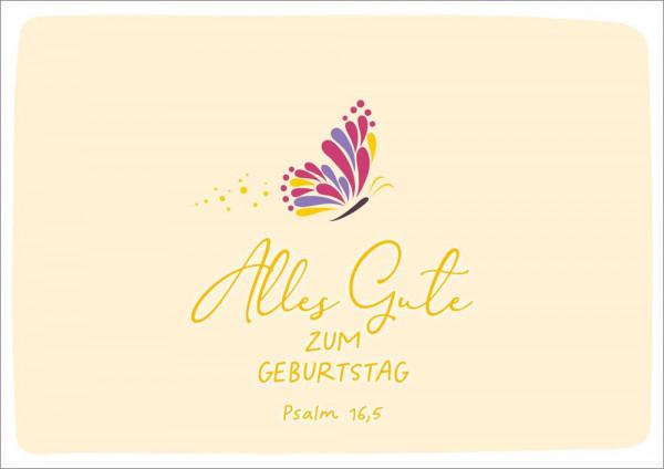 """Doppelkarte """"Alles Gute/ Schmetterling"""""""