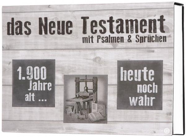 Elberfelder 2003 - Das Neue Testament mit Ps.+Spr. ''Druckerpresse'' - Querformat