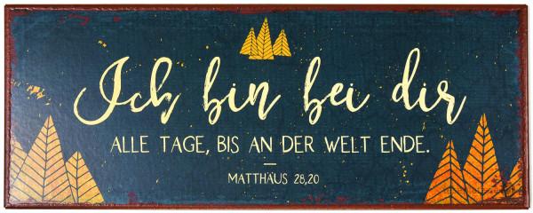 """Metallschild """"Bis an der Welt Ende"""""""