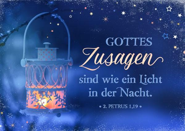 Postkarte - Gottes Zusagen sind ein Licht