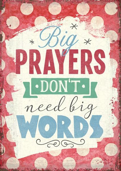 """Postkarte """"Big prayers"""""""