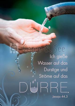 Postkarte - Wasser auf das Durstige