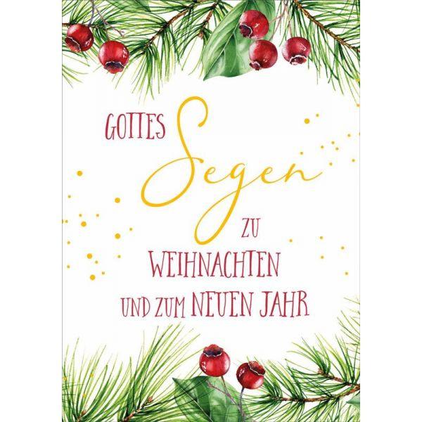 """Faltkarte """"Rote Beeren"""""""