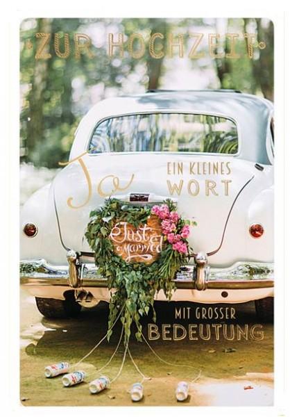 """Faltkarte """"Ein kleines Wort"""" - Hochzeit"""