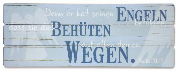 Holz-Wandbild ''Engeln befohlen''