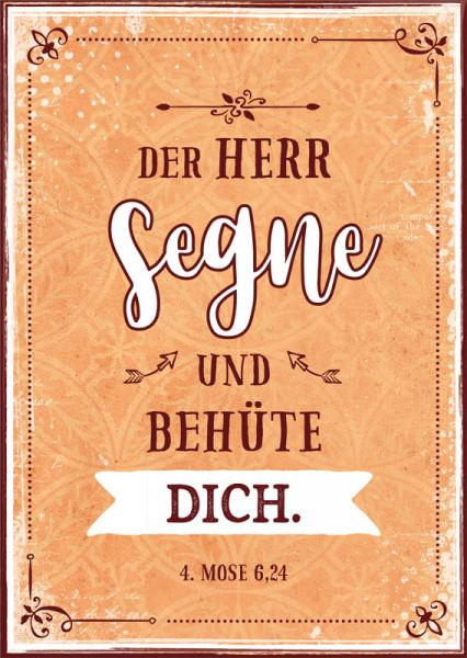 "Postkarte ""Der HERR segne dich"""