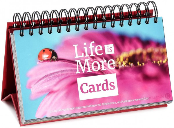 Life-is-More Cards - Aufsteller
