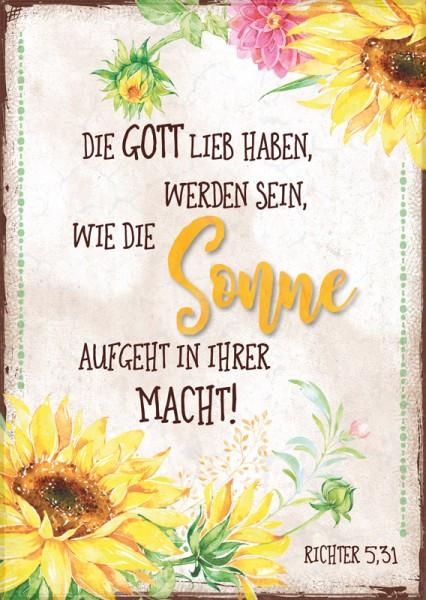 "Postkarte ""Sonne / Sonnenblumen"""
