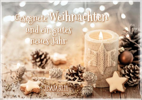 "Postkarte ""Weihnachtskerze"""