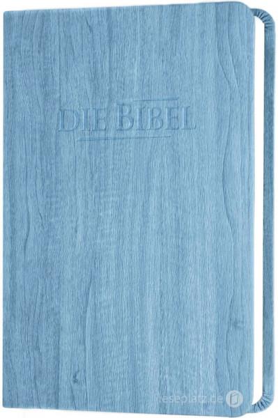 Elberfelder 2003 - Taschenausgabe / PU-Kunstleder blau