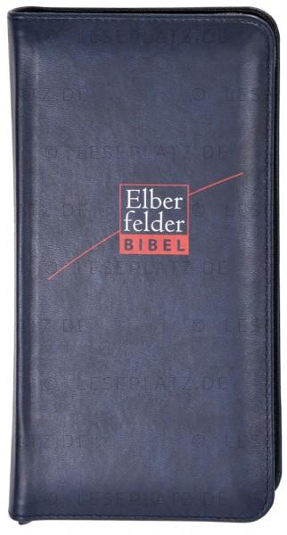 Elberfelder Bibel 2006 Pocket Edition - Kunstleder dunkelblau, mit Reißverschluss