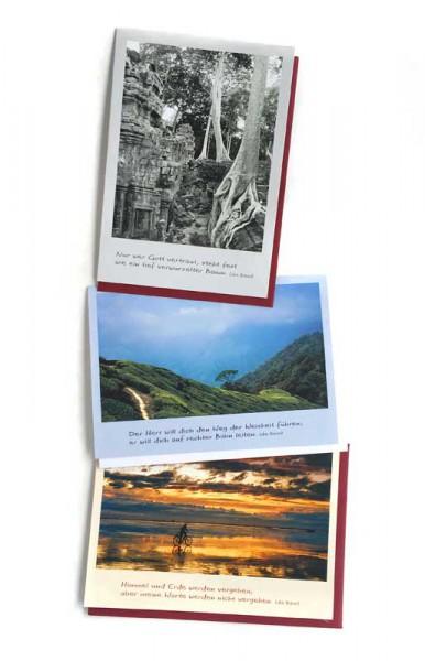Faltkarten-Set mit Bibelversen
