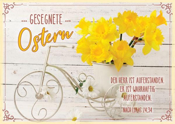"""Postkarte """"Gesegnete Ostern"""" Narzissen"""