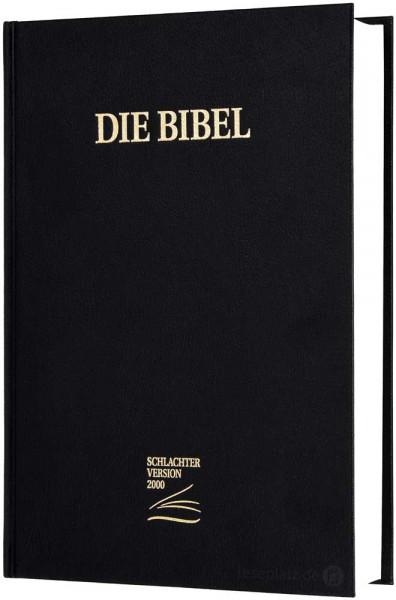 Schlachter 2000 Großdruckausgabe - Hardcover schwarz (Baladek)