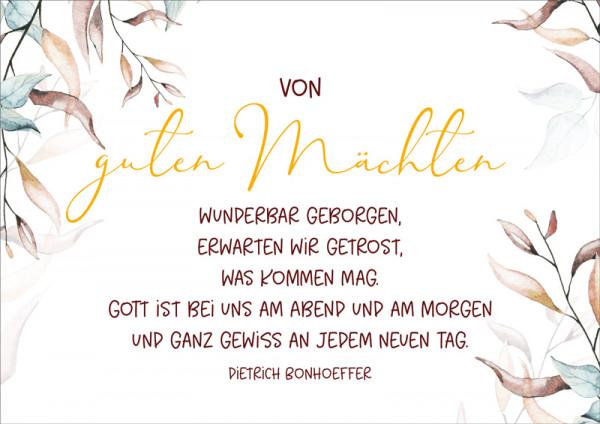 """Doppelkarte """"Von guten Mächten"""""""