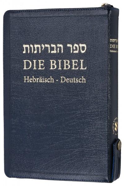 Die Bibel - Hebräisch-Deutsch (Leder / Goldschnitt / Reißverschluss)
