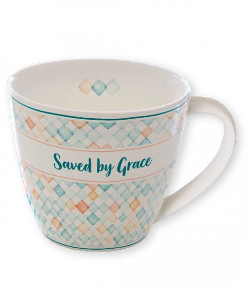 "Tasse ""Saved by Grace"""
