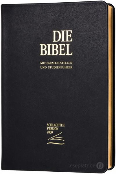 Schlachter 2000 Standardausgabe - Kalbsleder schwarz / flexibel / Goldschnitt