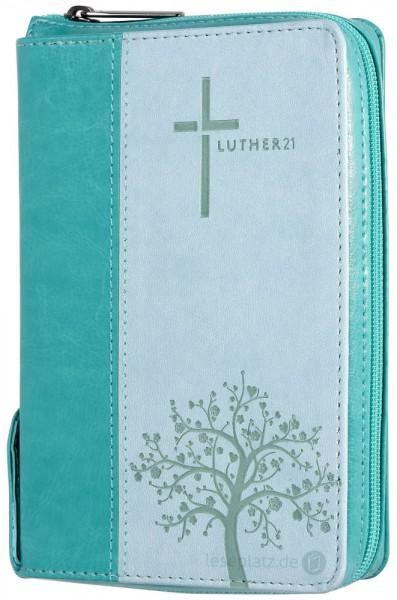 Luther21 - Taschenausgabe - Kunstleder grün/helltürkis