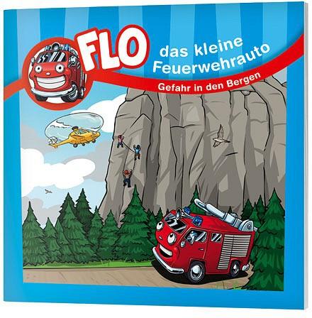 """Flo, das kleine Feuerwehrauto - Mini-Buch """"Gefahr in den Bergen"""""""