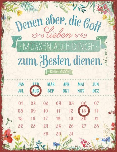 """Magnetkalender ''Denen aber, die Gott lieben"""""""
