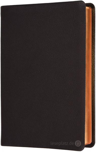 Elberfelder 2003 - Schreibrandausgabe / Ziegenleder braun Rotgoldschnitt