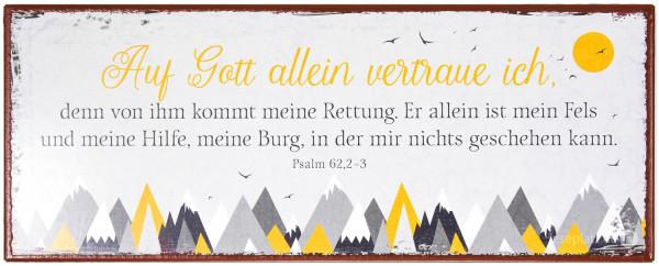 """Metallschild """"Auf Gott allein vertraue ich"""""""