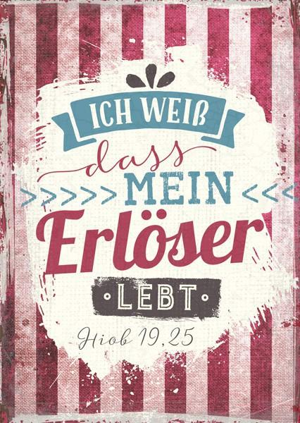 """Postkarte """"Mein Erlöser lebt"""""""