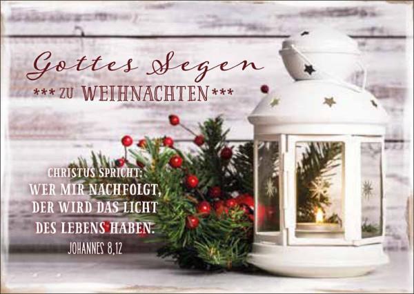 """Postkarte """"Weißes Windlicht"""""""