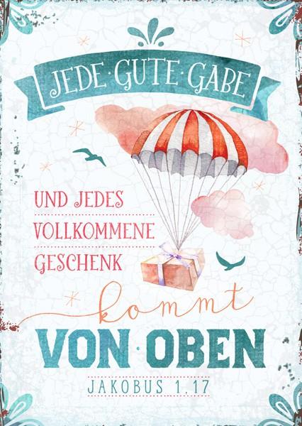 """Postkarte """"Jede gute Gabe"""""""