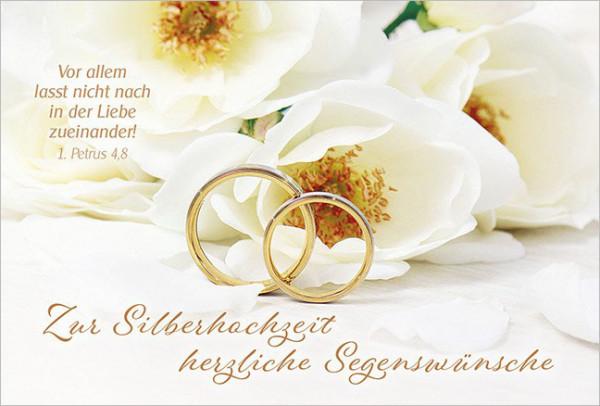 """Faltkarte """"Zur Silberhochzeit"""""""