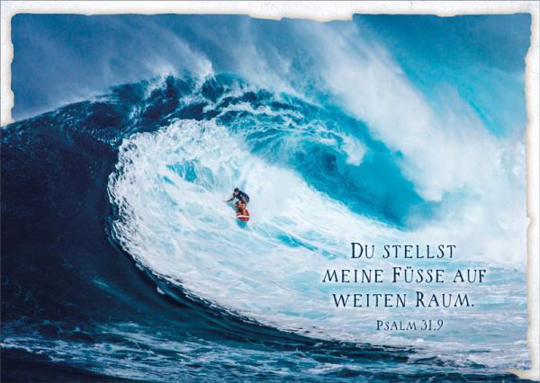 "Postkarte ""Wellenreiter"""