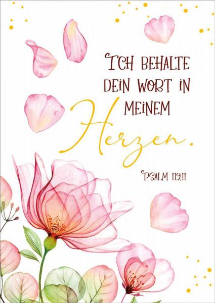 """Postkarte """"Ich behalte dein Wort in meinem Herzen"""""""