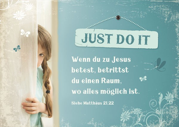 "Postkarte ""Just Do It"""