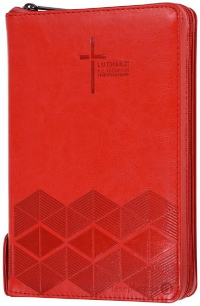 Luther21 - F.C.Thompson Studienausgabe - Taschenausg. - Kunstleder PU rot