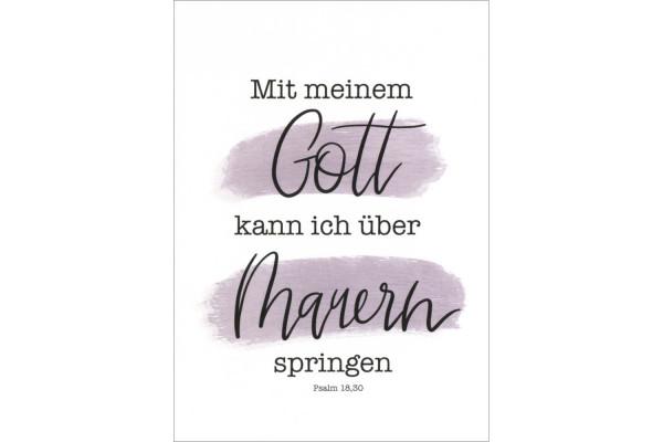 "Postkarte ""Mit meinem Gott ..."""
